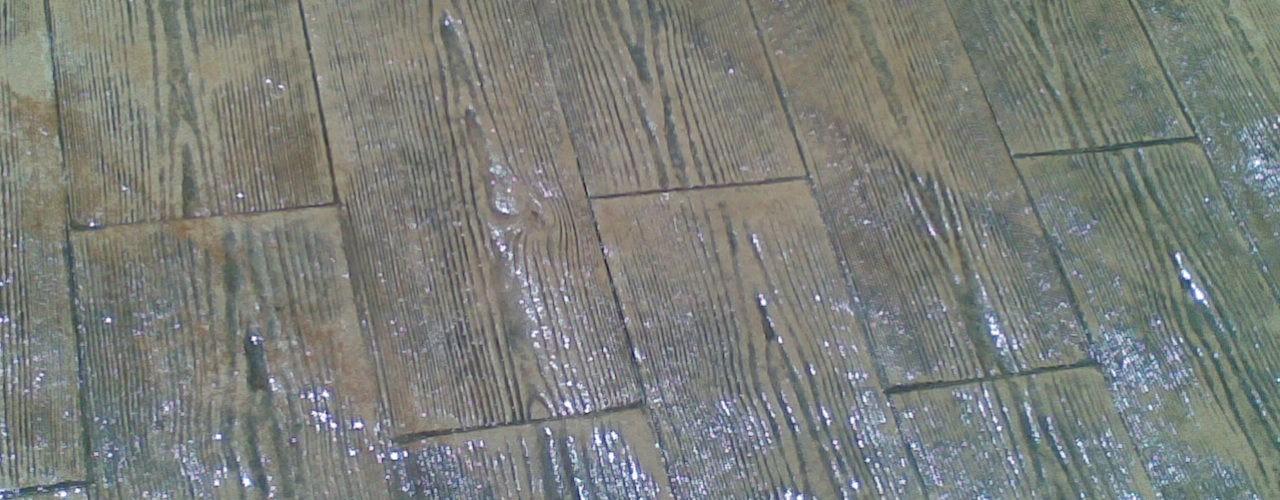 color efecto madera pigmetnaci贸n en hormig贸n impreso