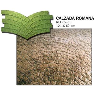 molde adoquin calzada romana