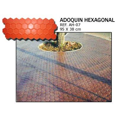 molde adoquin hexagonal