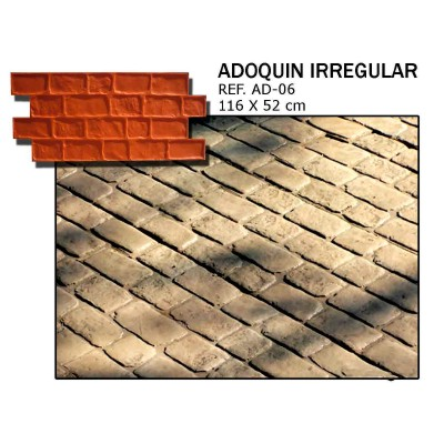 molde adoquin irregular