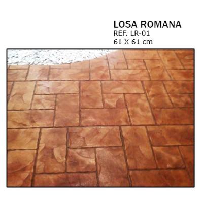 molde losa romana