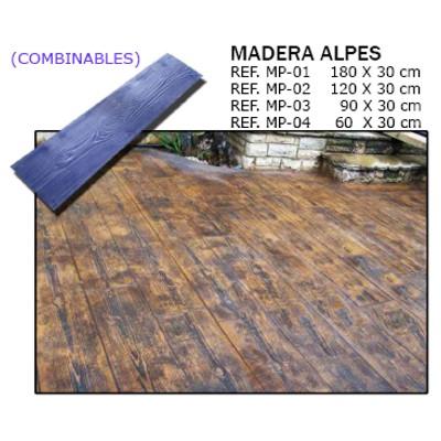 molde madera alpes