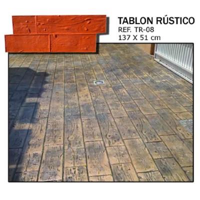 molde madera tablon rustico