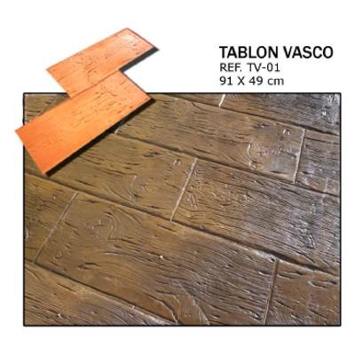molde madera tablon vasco