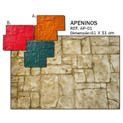 molde piedra apeninos