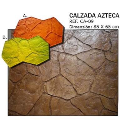 molde piedra calzada azteca