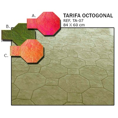 molde losa tarifa octogonal