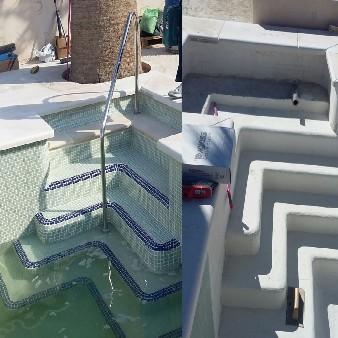 antes y despues de escaleras con bordillo antideslizante
