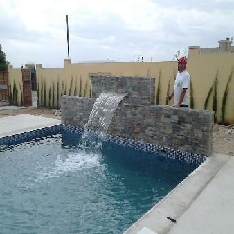 cascada piscina lajas pizarra alahama de murcia