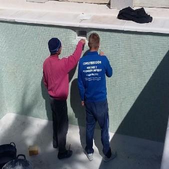 Correcto Rejuntado de gresite en Piscina para evitar perdida de agua
