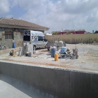 vista general piscina casa alahama de murcia
